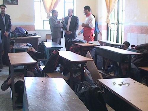 برگزاری مانور پدافند غیرعامل در مدارس شهر لیکک مرکز شهرستان بهمئی+عکس