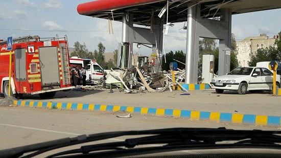 انفجار جایگاه cng  در مسجدسلیمان